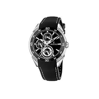 festina – f16394/4 – montre femme – quartz – analogique – bracelet plastique noir