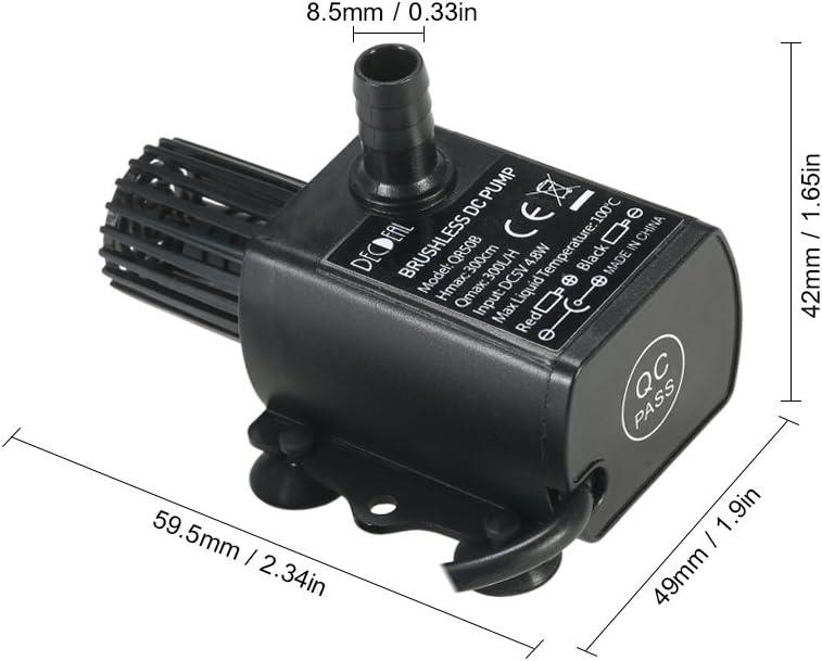 H Lift 300cm Leepesx USB DC5V 4.8W Mini Pompa Acqua Senza spazzole Mini Impermeabile Impermeabile Fontana sommergibile Acquario Circolare 300L
