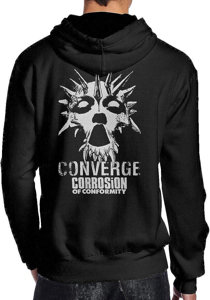 Wonderbce Mens Hoodie Sweatshirt Corrosion of Conformity Mens Hoodie with Cap,Hoodies,Hoodies for Men