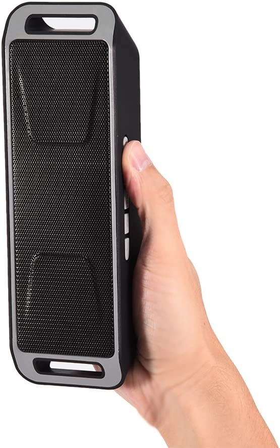 Bluetooth 4.0 Speaker Stereo Bass Subwoofer Support TF Card USB AUX FM Radio Mic Hands-Free Alinory Bluetooth Speaker Green
