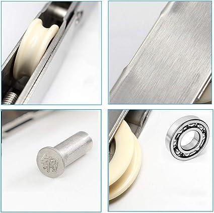 Rueda De Aleación De Aluminio Y Rodillo De Ventana Rueda Larga De Acero Inoxidable, Adecuada para Puertas Y Ventanas/Puertas Correderas, Altura Ajustable, 15 * 20 Mm / 15 * 24 Mm, Paquete