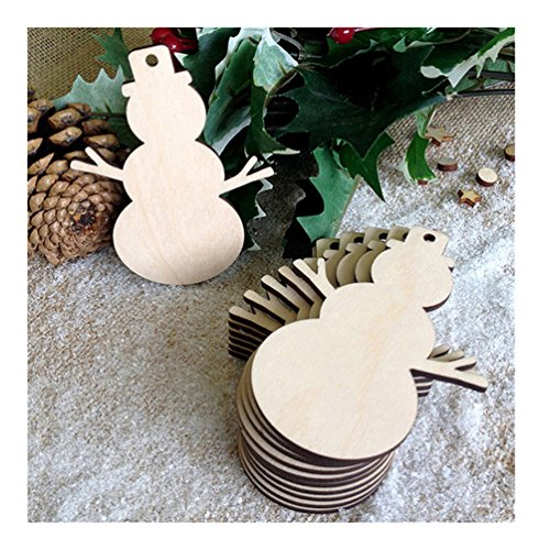 star Lalang Rustic Wooden Bauble Hanging Decor Christmas Wedding Party Bunting Decoration