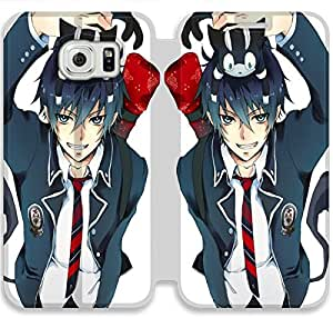 Screen Protection Phone Cases Blue Exorcist-5 iPhone Samsung Galaxy S6 Edge Leather Flip Case