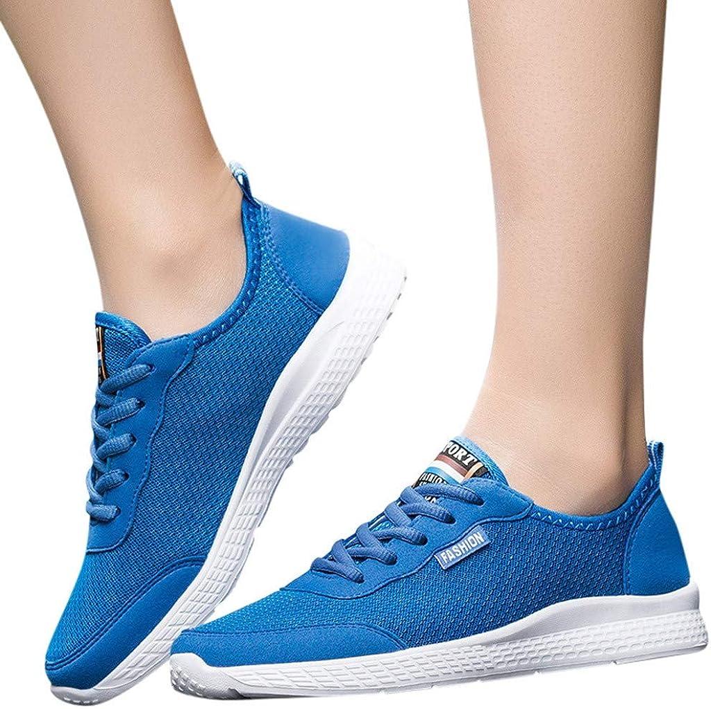 CATHYOYO Chaussures de Course Basket Compétition Running Sport Trail Entraînement Couple Maille Grande Taille Chaussures de Sport Sauvages Espadrilles Respirantes Bleu