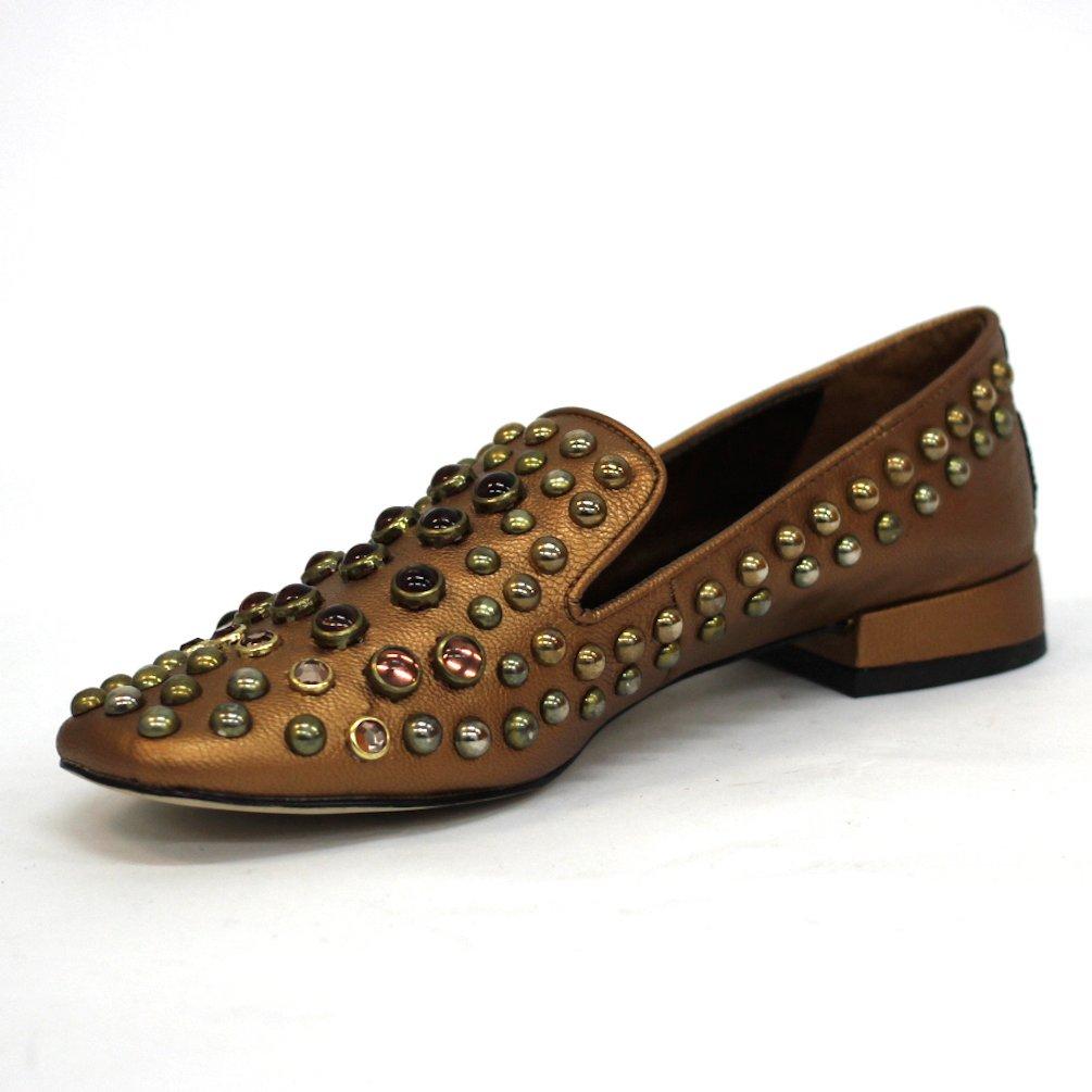 BCBGeneration - Mocasines de Otra Piel para Mujer Dorado Dorado Metalizado: Amazon.es: Zapatos y complementos