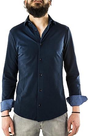DUomo Milano - Camisa Formal - para Hombre Turquesa S: Amazon.es: Ropa y accesorios