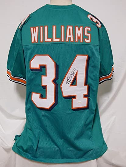 Ricky Williams Autographed Jersey - Custom - JSA Certified - Autographed  NFL Jerseys 5257a2428
