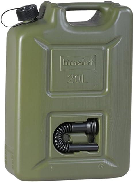 4 x 10 L Armeekanister Ausgießer Benzin Diesel Kanister Kunststoff olivgrün