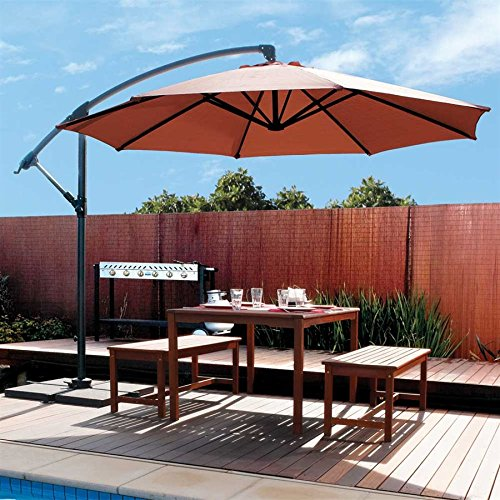 amazoncom coolaroo 10 foot round cantilever patio umbrella mocha patio lawn u0026 garden