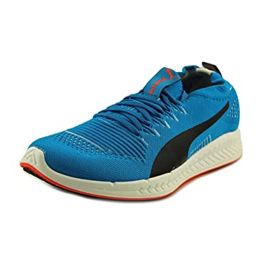 Puma Mens Ignite Proknit Running Shoes Atomic Blue-White-Red Blast Size 7.5