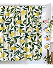 """Lifeel Shower Curtains, Allover Fruits Shower Curtain Waterproof Fabric Bathroom Shower Curtain Set with 12 Hooks, 72""""×72"""""""