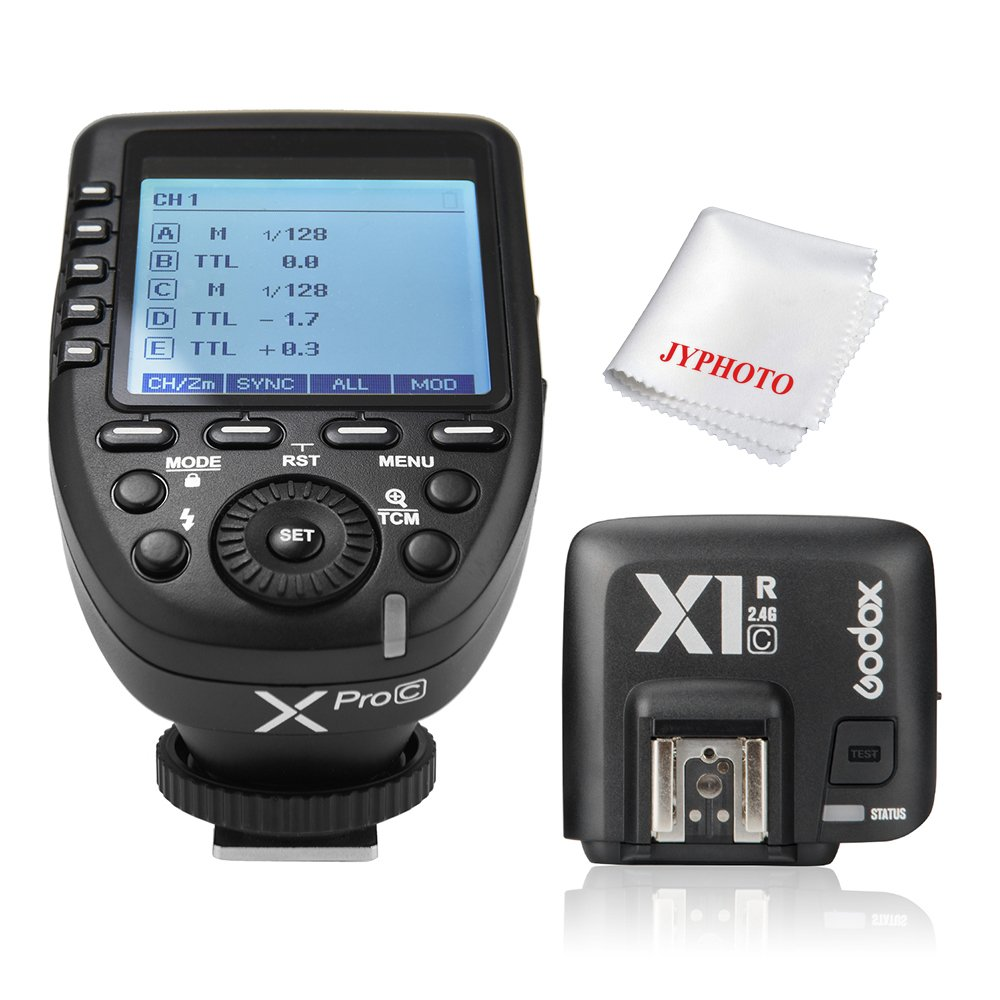 Godox Xpro-C 1/8000s HSS TTL Wireless Flash Trigger Transmitter with X1R-C Receiver for Canon by Godox