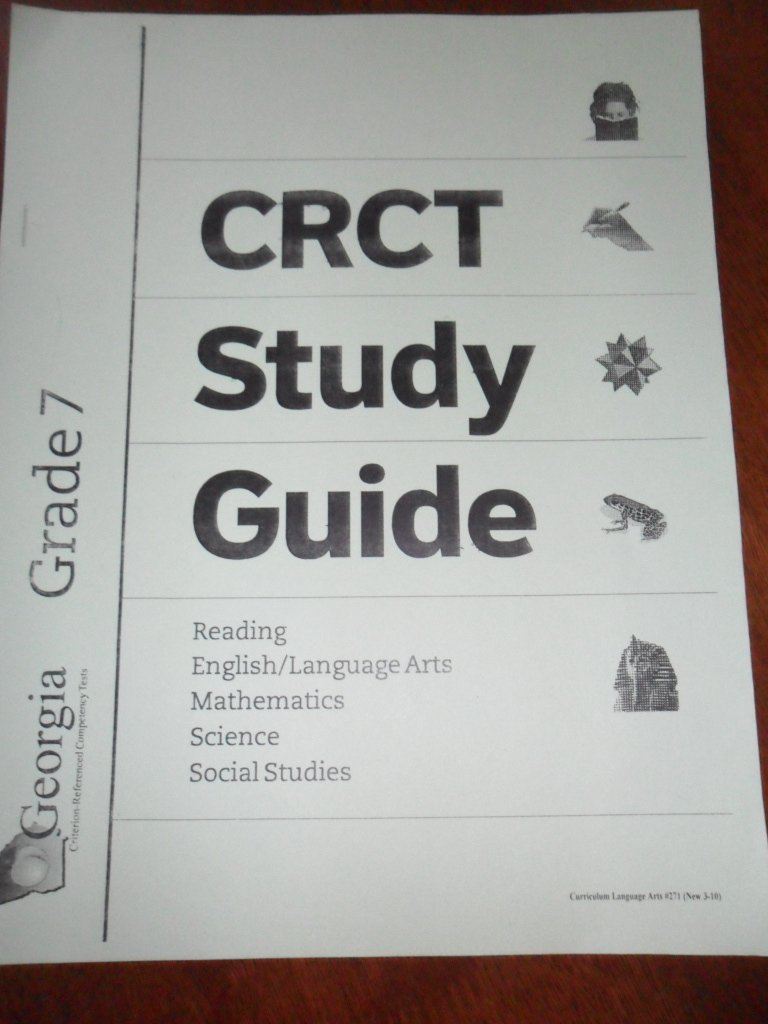 Georgia CRCT - Grade 7 - STUDY GUIDE (Reading, English, Language Arts,  Math, Science, and Social Studies): Georgia Dept. of Education: Amazon.com:  Books