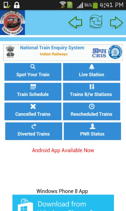 Amazon com: live trian pnr status: Appstore for Android