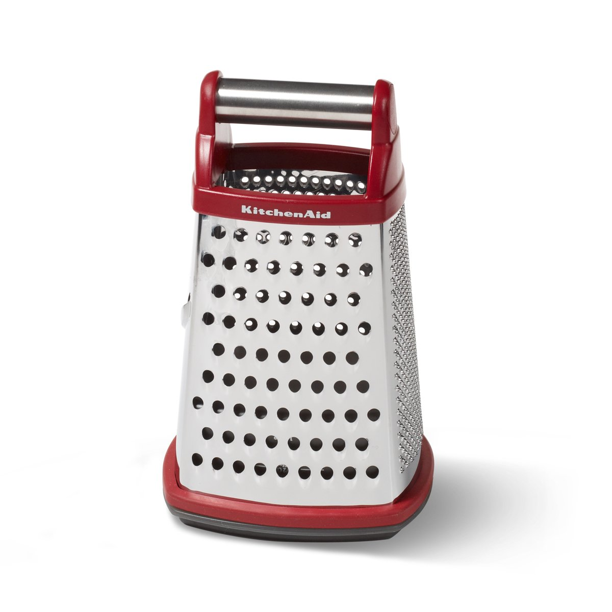 Marvelous Box Grater Cheese Vegetable Shredder Kitchen Stainless Steel Red Cooking New