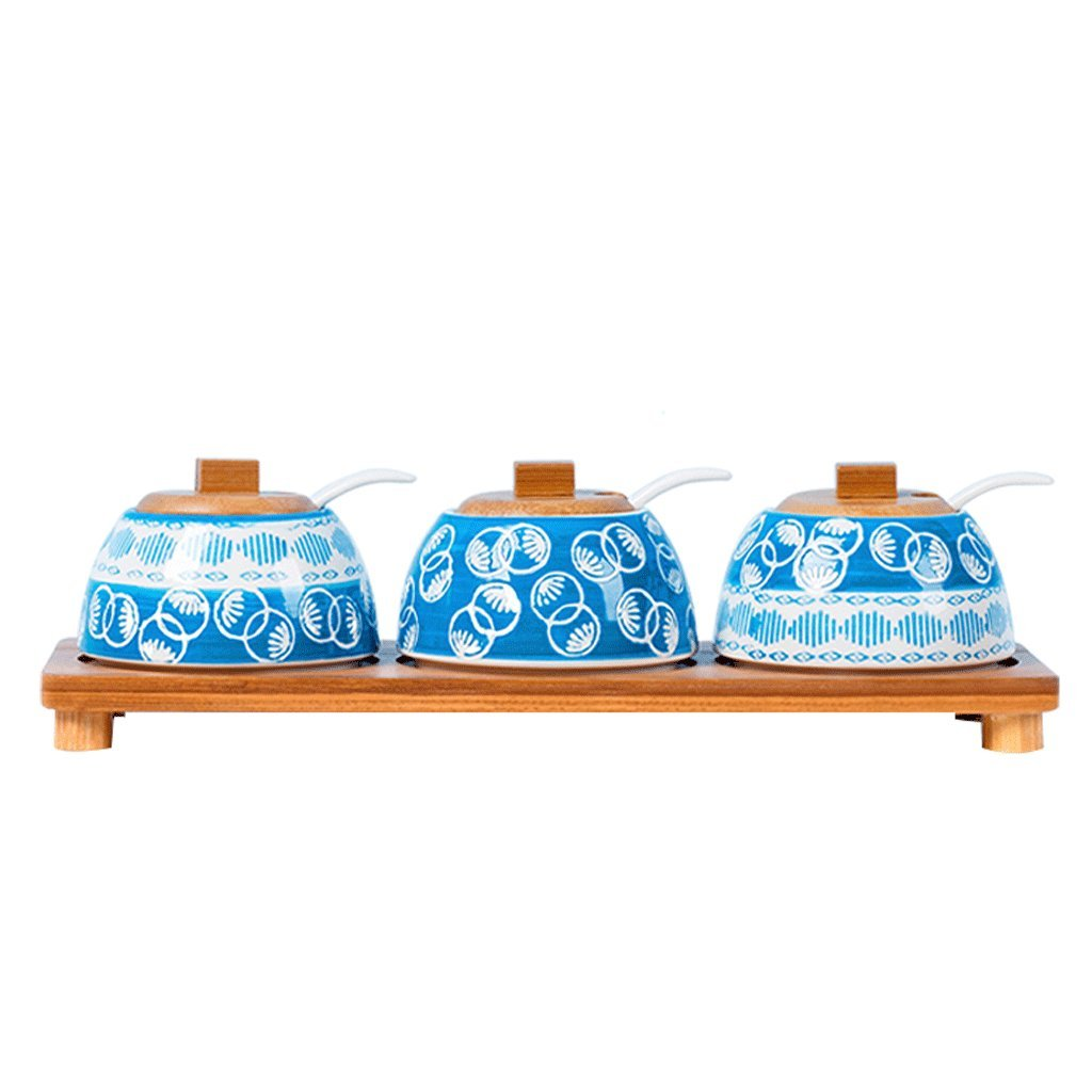 Keramik Gewürzbox Set Haushalt Öl Salz Dosen Kombinationsbox Geschirr Gewürzglas
