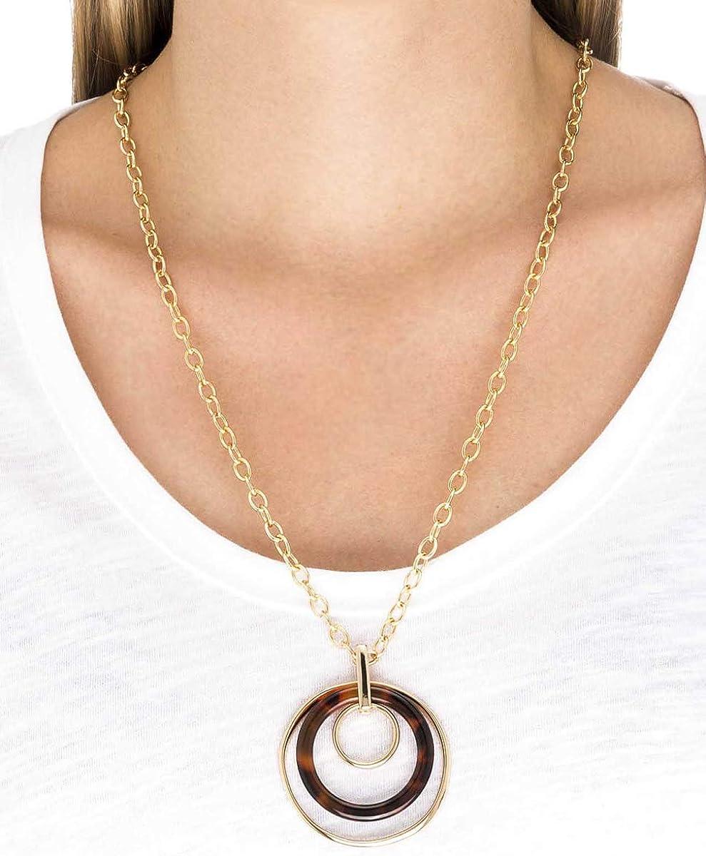 VIDAL /& VIDAL Colgante Oro Triple circulo Carey