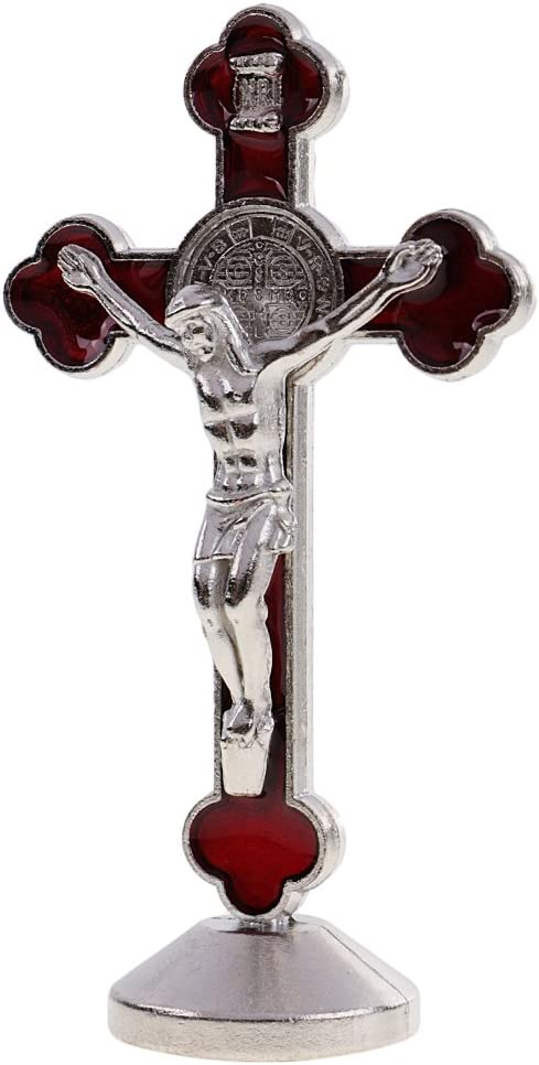 Gazechimp Crucifix Statue Magn/étique J/ésus Christ Figurine INRI Objet Collection D/écoration Religieuse