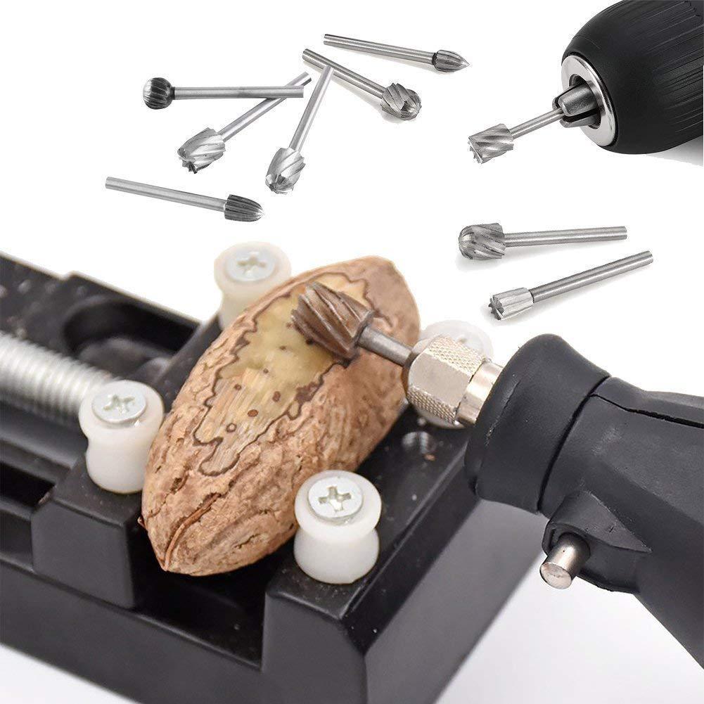 Gasea Mini-Fr/äser mit Titanbeschichtung 20 St/ück 3 mm Schaft