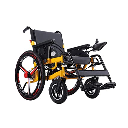 Jiamuxiangsi- Silla de ruedas eléctrica, silla de ruedas inteligente automática portátil plegable, vehículo