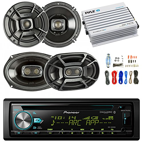 Pioneer DEH-S6000BS Car Bluetooth Radio USB AUX CD Player Receiver - Bundle Combo With 2x Alpine 6.5'' 80W 2-Way Coaxial Car Speakers + 2x 6x9 Inch 280W Black Speaker + 4-Channel Amplifier + Amp Kit by EnrockAutomotiveBundle (Image #6)