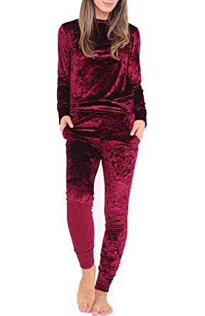 Yidarton Survêtement Femme Velours Hiver Sweat-Shirts Manches Longues +  Pantalon Casual Jogging Ensemble de Pajamas  Amazon.fr  Vêtements et  accessoires 6e620cef488