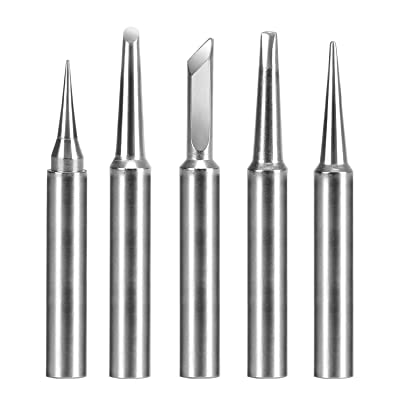 MOKAOU Replacement ST Series Soldering tips for weller Weller WP25, WP30, WLC100, SP40L, SP40N and WP35 Irons (5pcs)