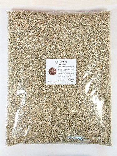 Eve's Premium Grade Horticultural Vermiculite for Bonsai and all house plants including cactus for Soil additive Conditioner Mix - 20 Cups(dry)
