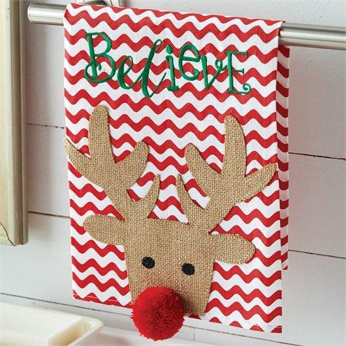 Believe Reindeer Dish Towel