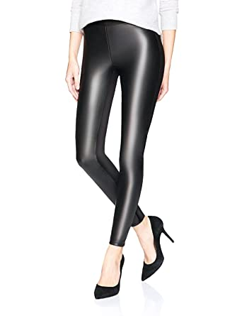 19f9837bcbc31 LIMOSUNO Petite Faux Leather Leggings for Women - High Waisted Shiny Black Leather  Pants - Wet