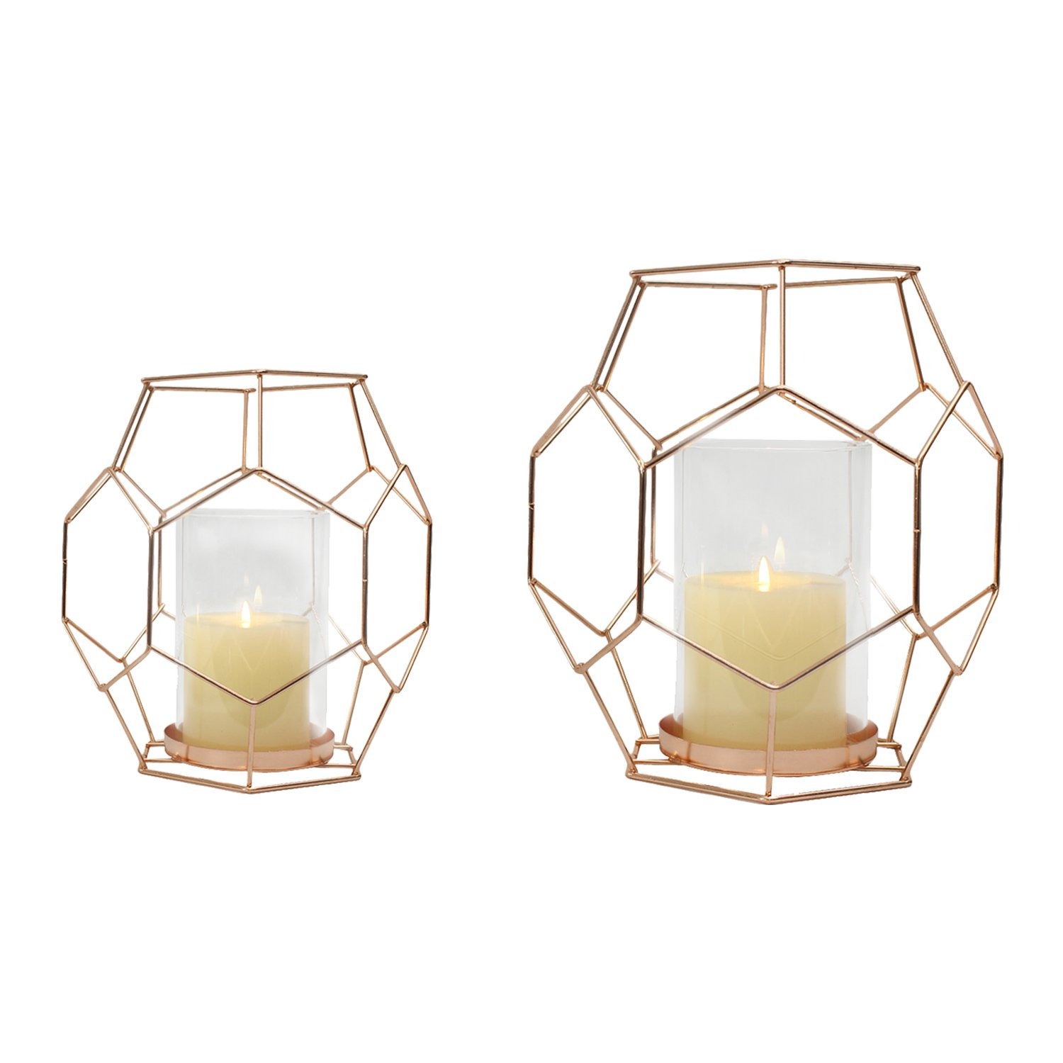 Joveco Accent Metal Candle Holder Stand, Set of Two JHD54