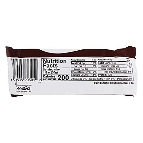 NuGo Nutrition - Barras de proteínas de color blanco huevo ...