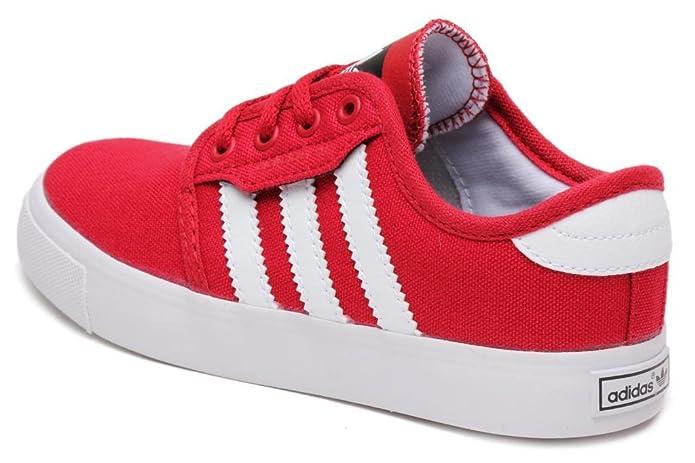 9ae362fe1f28f Adidas Pre School Seeley Shoes University Red/White Q33220 2