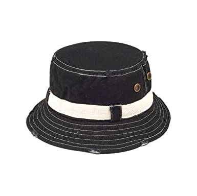 094a57ff983ce3 Hats & Caps Shop Frayed Cotton Twill Washed Bucket Hat - by TheTargetBuys -  Black -
