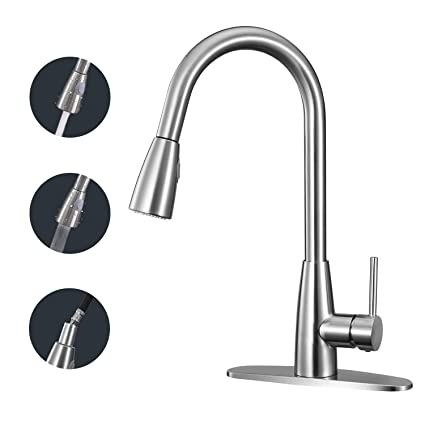kitchen faucet anza single handle high arc faucet with pull down rh amazon com kitchen faucet with pull down sprayer kitchen faucet with pull out sprayer reviews