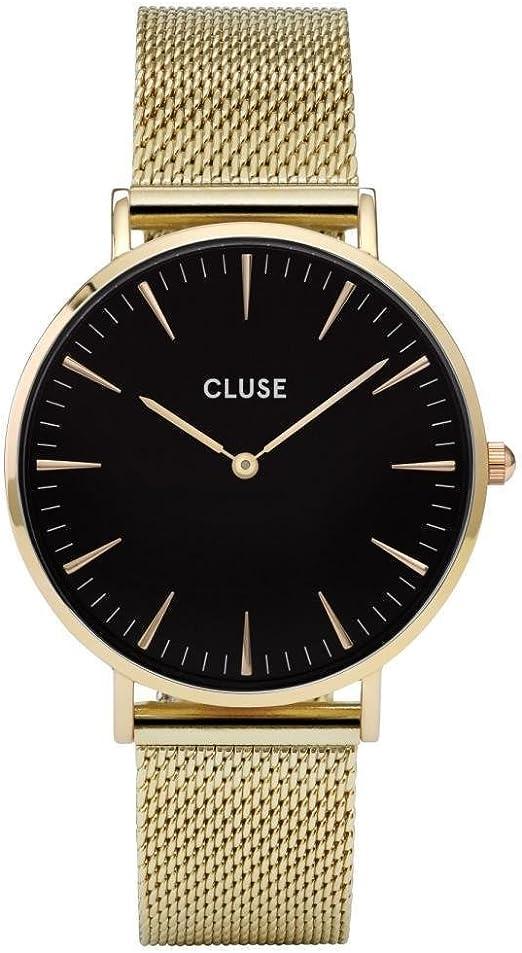 Cluse Reloj Analógico Automático para Mujer con Correa de Acero inoxidable plateado - CL18110