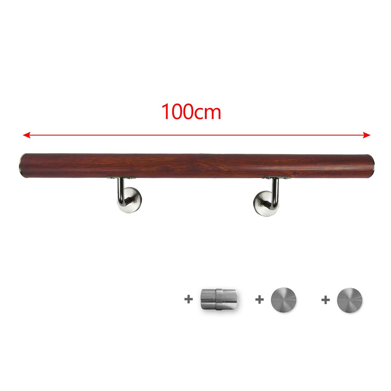 Argent, 150cm FROADP Main courante en acier inoxydable AISI304 Contre le garde-corps mural pour escaliers int/érieurs et ext/érieurs