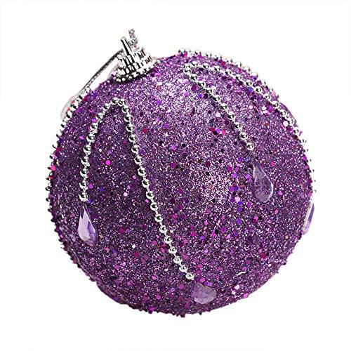USLovee3000 Clearance Christmas Rhinestone Glitter Baubles Balls Xmas