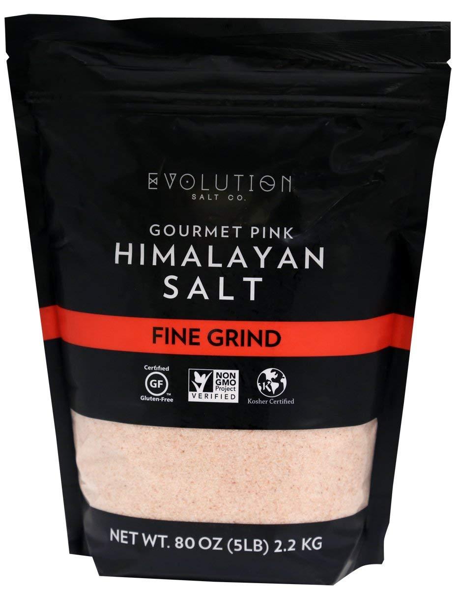 Evolution Salt Gourmet Pink Himalayan Fine Grind, 5 lb