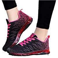 Women Tennis Running Shoes,Air Cushion Sneakers Lightweight Sport Shoes Athletic Walking Breathable White