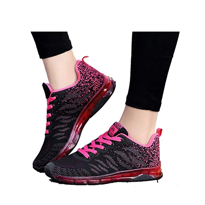 18915f349b551 Women Tennis Running Shoes,Air Cushion Sneakers Lightweight Sport Shoes  Athletic Walking Breathable