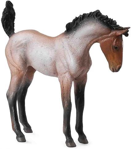 Bay Roan Collecta Mustang Foal