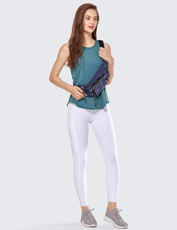 CRZ YOGA Womens Activewear Quick Dry Cute Shirt Mesh Running Tie Back Workout Tank Top