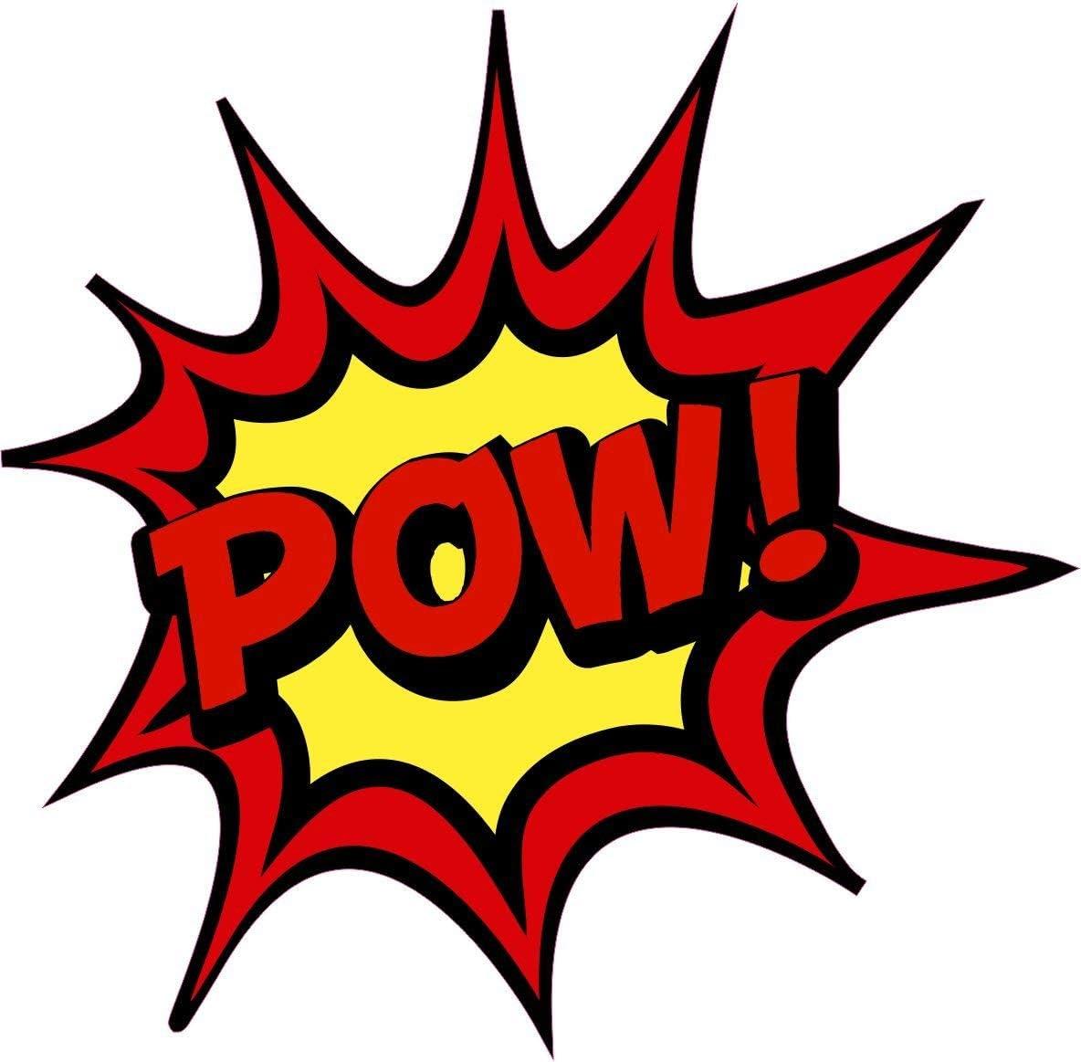 Netspares 121022321 1 X Aufkleber Pow Bang Boom Pang Spruch Comic Sticker Tuning Decal Fun Gag Ok Auto