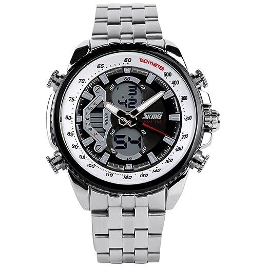 mastop buceo 30 m reloj militar deportes LED Digital 2 zona horaria reloj cuarzo reloj de