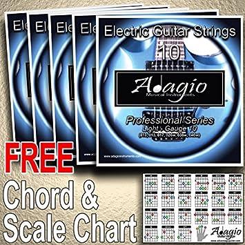 Adagio profesional cuerdas para guitarra eléctrica 10 - 46: Amazon.es: Instrumentos musicales