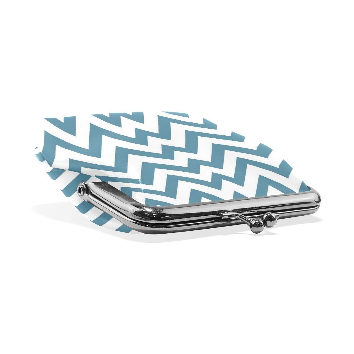 LALATOP Blue Stripe Womens Coin Pouch Purse wallet Card Holder Clutch Handbag