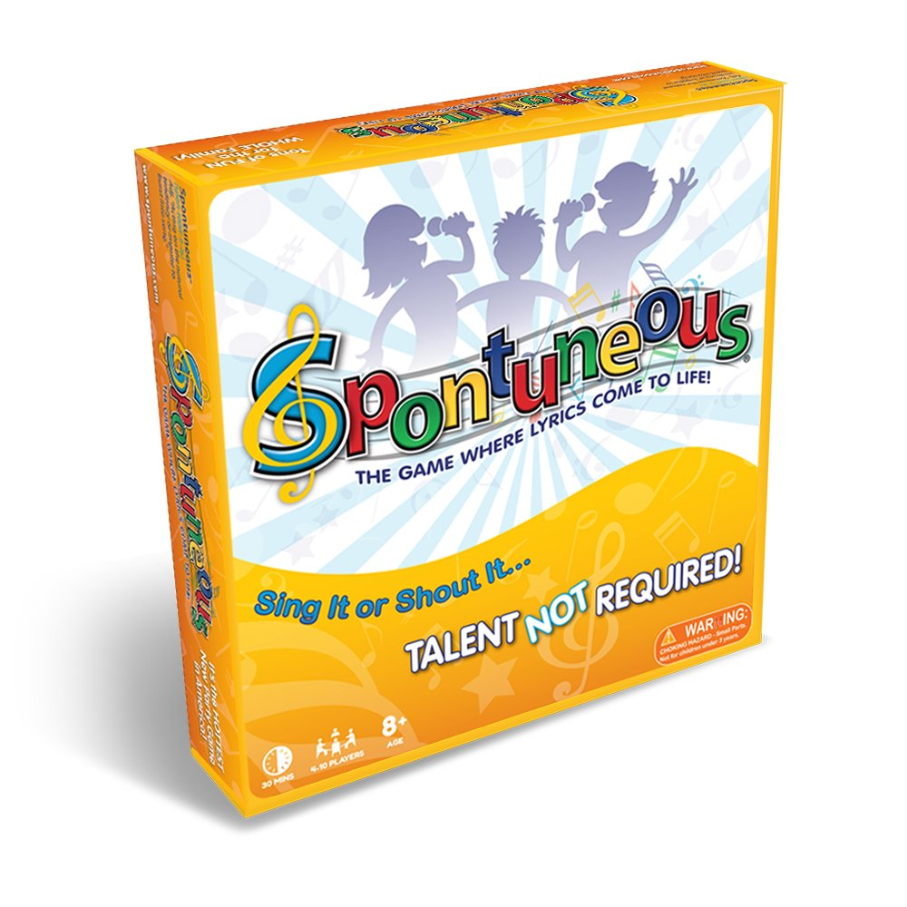 Spontuneous - The Song Game - Sing It or Shout It - Talent NOT Required (Best Family / Party Board Games for Kids, Teens, Adults - Boy & Girls Ages 8 & Up),Yellow by Spontuneous