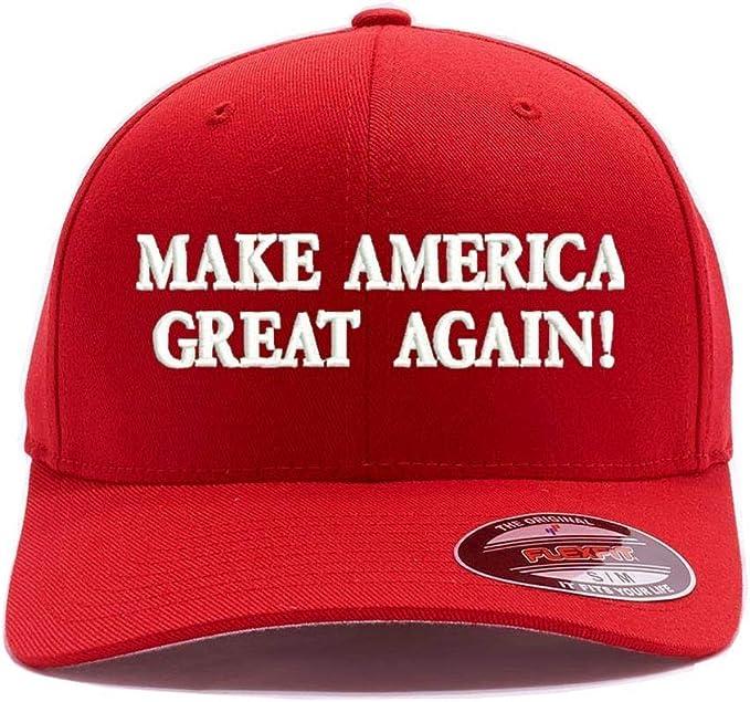 MAKE AMERICA GREAT AGAIN TRUMP 2016 Beanie Cap Red Embroidery Design USA
