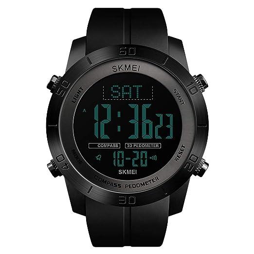 CR#ST - Reloj de Pulsera para Hombre, multifunción, Resistente al Agua,
